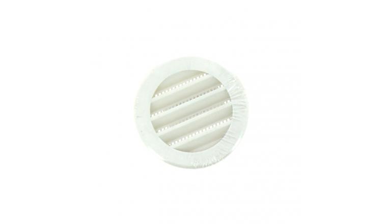 Grille PVC universelle ronde à encastrer diam 60 à 125 mm DMO