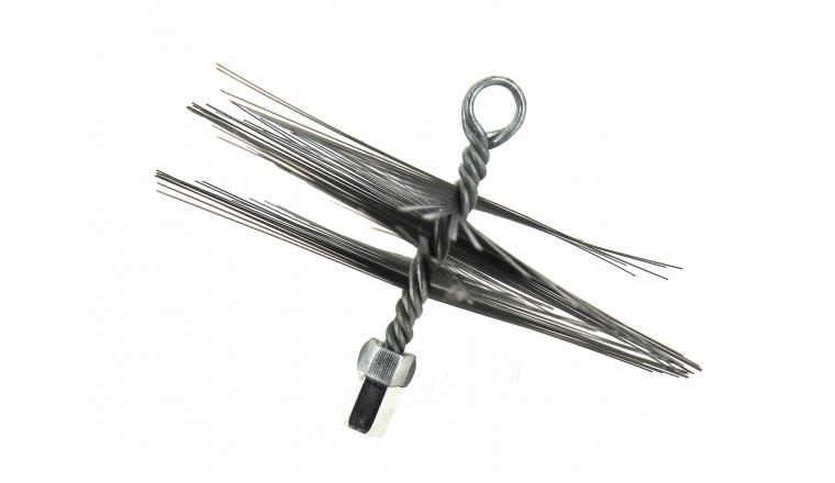 Hérisson rond en acier avec anneau de filetage diamètre 150 à 250 mm DMO