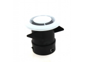 Bouche d\'extraction VMC simple flux ronde PVC blanc 80 ou 125 mm DMO