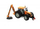 Tracteur avec faucheuse d\'accotement Valtra Siku 3659