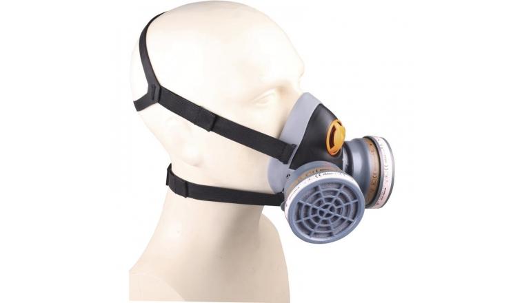 Demi Masque de Protection Muni de 2 Galettes A2 P2 Mars Kit M64000 - Delta Plus