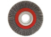 Brosse circulaire 200mm fil acier pour touret à meuler