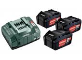 Coffret 3 Batteries Li Power Metabo 18V 5,2A/h