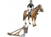 Lot accessoires d'équitation cavalière cheval accessoires Bruder 62505