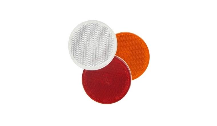 Catadioptres ronds adhésifs réfléchissants blanc/orange/rouge
