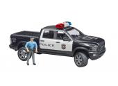 Pick up RAM 2500 police avec policier Bruder 1/16