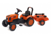 Tracteur Kubota M7171 avec remorque - tracteur à pédales