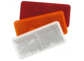 Catadioptre rectangulaire adhésif 94x44 mm blanc, orange ou rouge