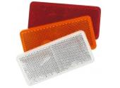 Catadioptre rectangulaire adhésif 94x44 mm blanc, orange ou rouge