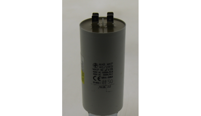 Condensateur de démarrage 40µF 45x92mm 2402498